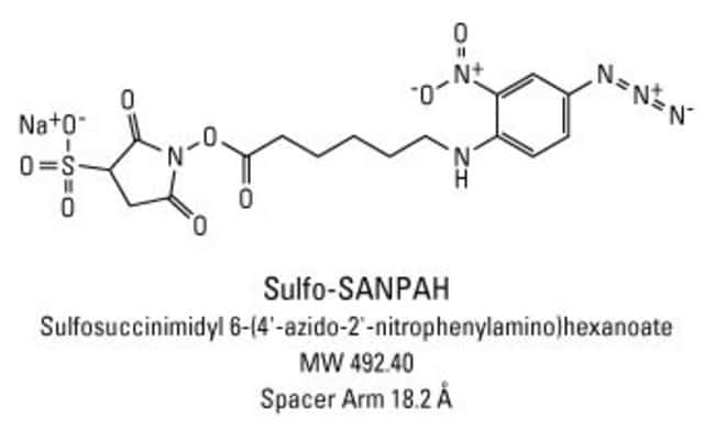 Chemical structure of Sulfo-SANPAH crosslinking reagent