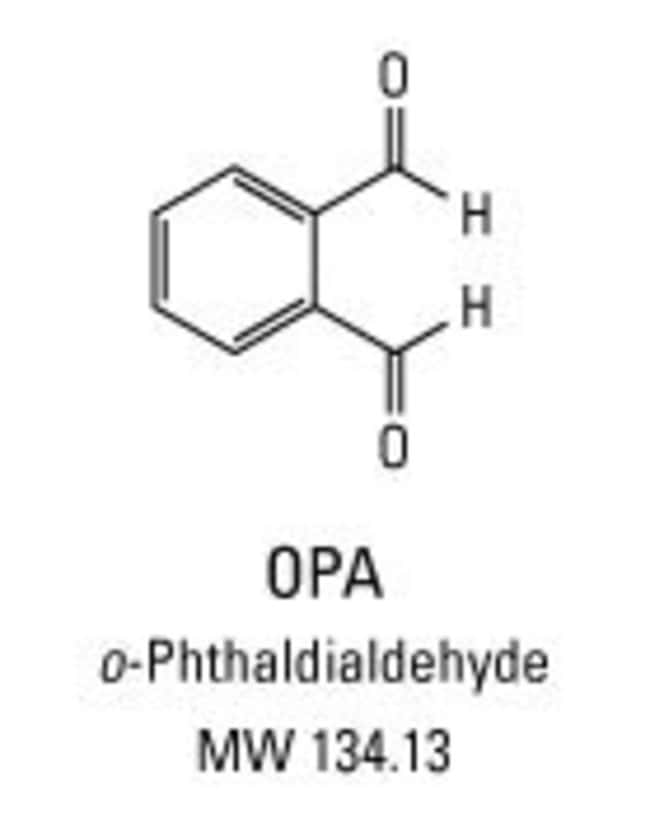 Chemical structure of ortho-phthalaldehyde (OPA)