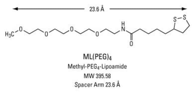 Chemical structure and properties of ML(PEG)4: