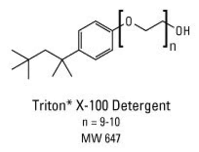 Chemical structure of Triton X-100 detergent