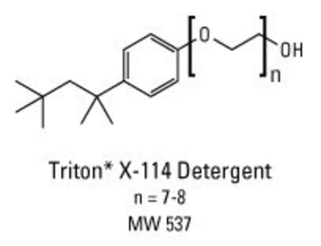 Chemical structure of Triton X-114 detergent