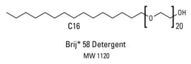 Chemical structure of Brij 58 detergent