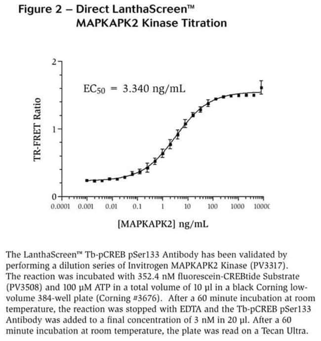Figure 2 - Direct LanthaScreen™ MAPKAPK2 Kinase Titration