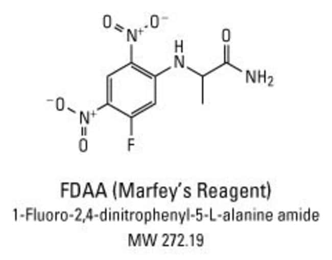 Chemical structure of Marfey's Reagent (FDAA)