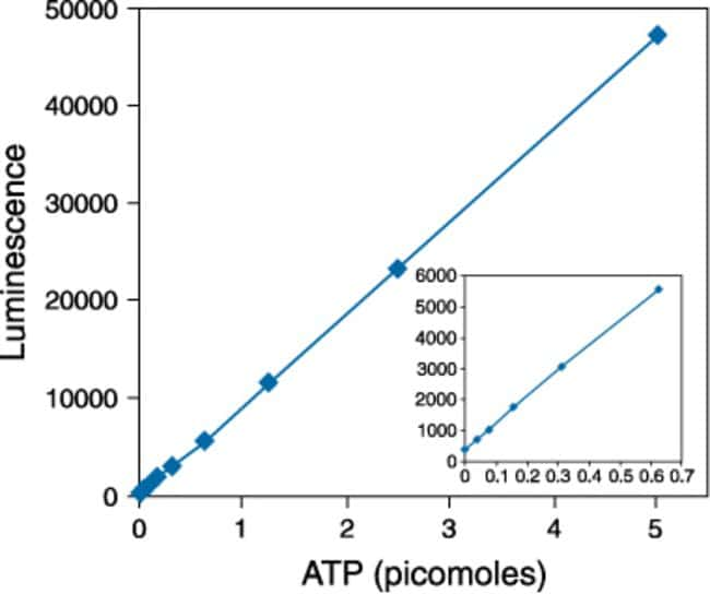 Detection of ATP using the ATP Determination Kit.