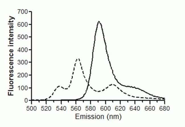 Fluorescence Emission Spectra of the Image-iT® Lipid Peroxidation Sensor Before and After Lipid Peroxidation