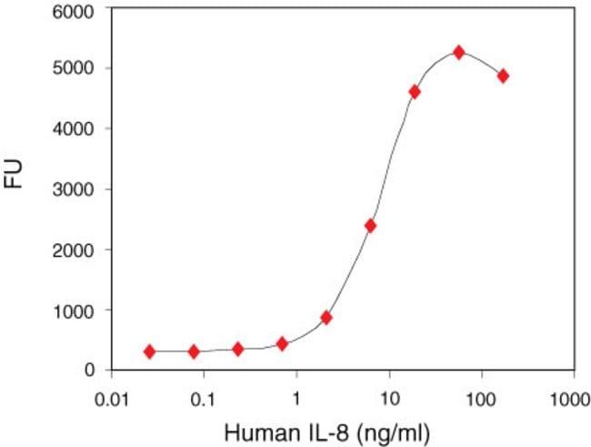 Representative standard curve.