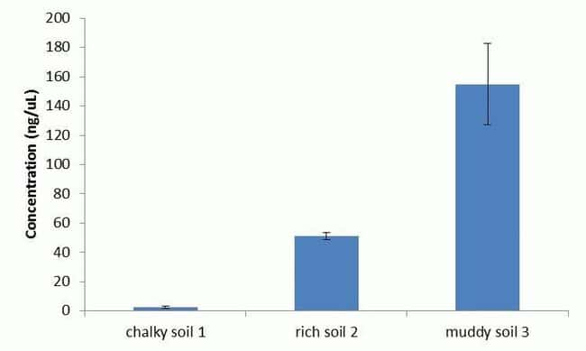Purification of microbial DNA from soil