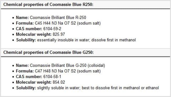 Coomassie Brilliant Blue R 250 Dye Thermo Fisher Scientific