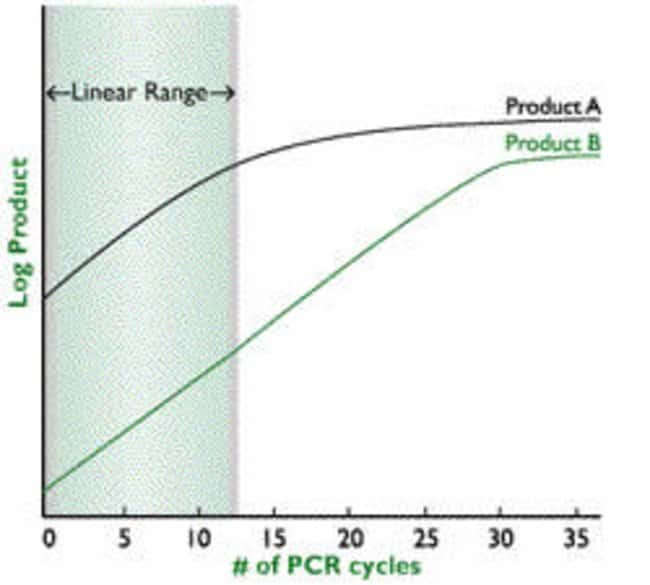 Why do I need to be in linear range when analyzing 2 products in relative RT-PCR?