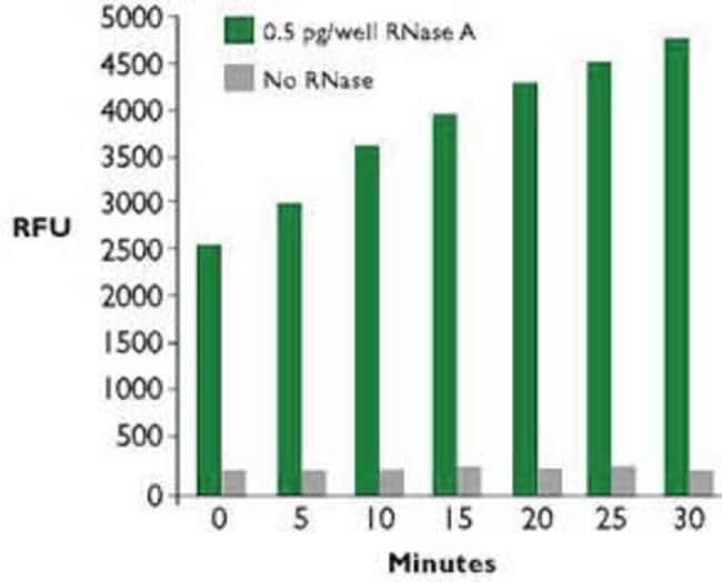 RNase A Detection with RNaseAlert™ Monitored on a Fluorimeter