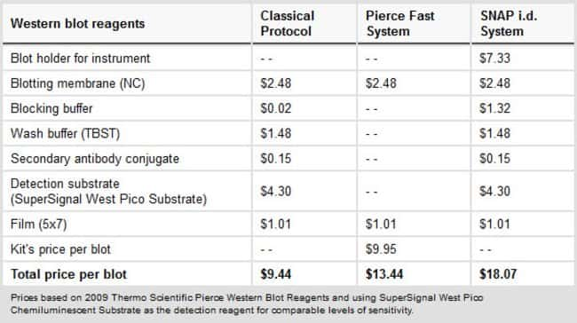 A cost-effective means to obtain Western blot results quickly