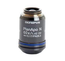 Olympus 60X Oil Objective, apochromat, coverslip-corrected