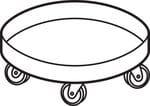 HyPerforma™ Drum Accessories, Plastic Drum Dolly