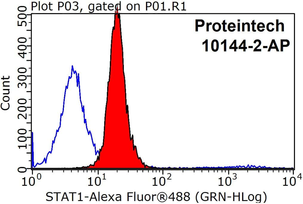 STAT1 Antibody in Flow Cytometry (Flow)