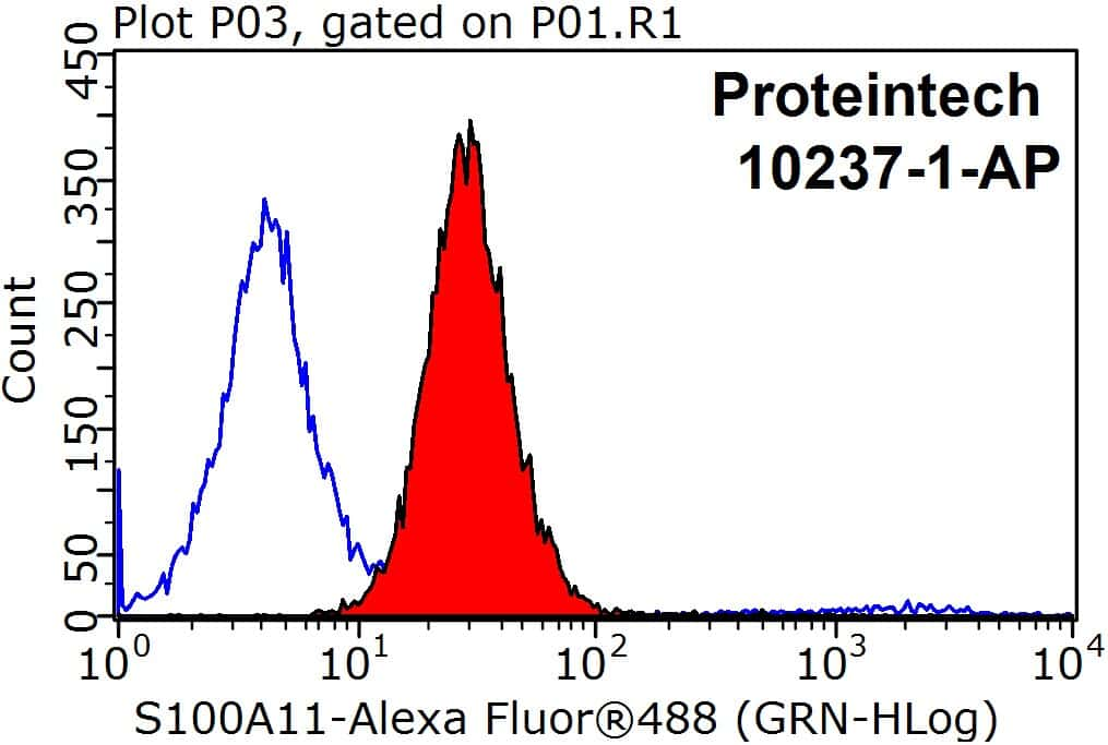 S100A11 Antibody in Flow Cytometry (Flow)