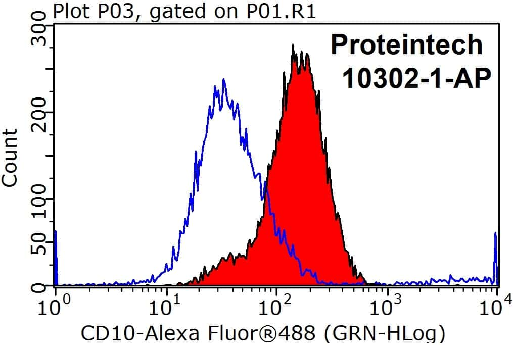 MME/CD10 Antibody in Flow Cytometry (Flow)