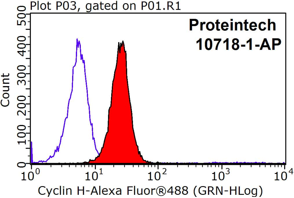 Cyclin H Antibody in Flow Cytometry (Flow)