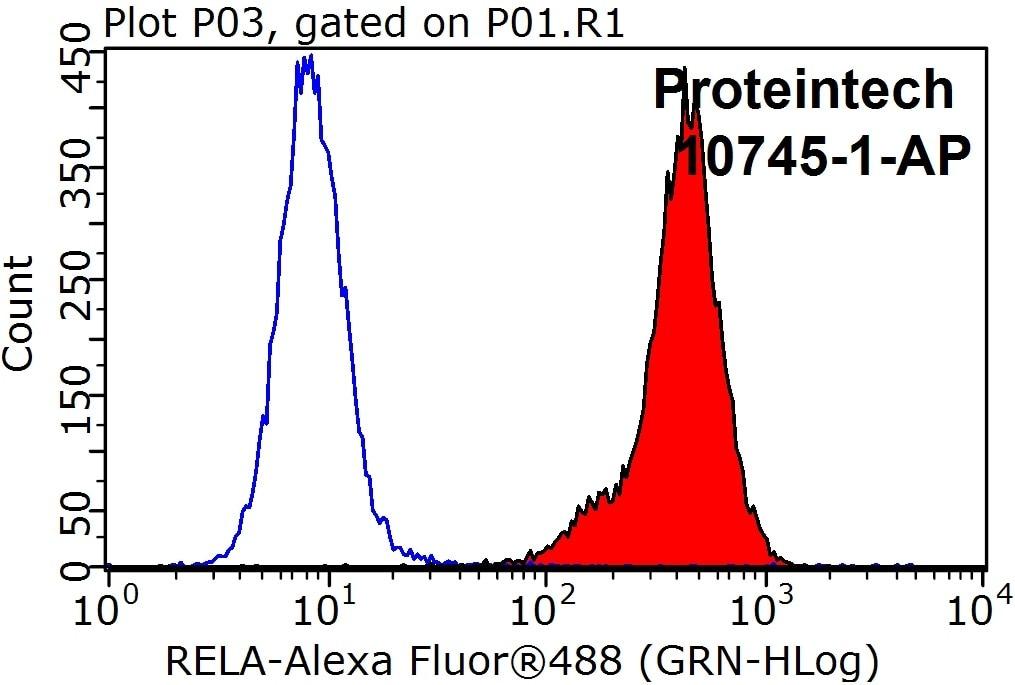 p65/RELA Antibody in Flow Cytometry (Flow)
