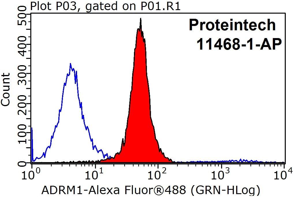 ADRM1 Antibody in Flow Cytometry (Flow)
