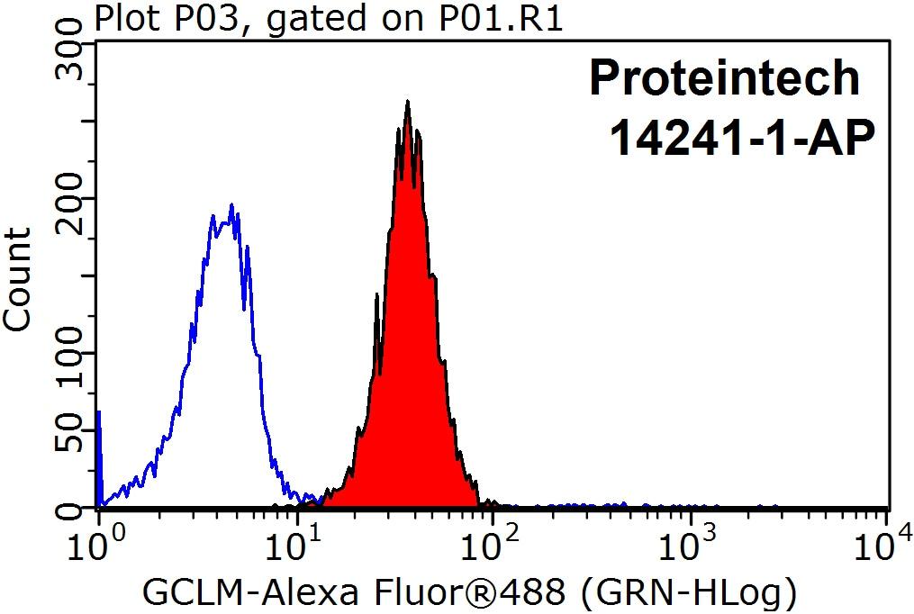 GCLM Antibody in Flow Cytometry (Flow)