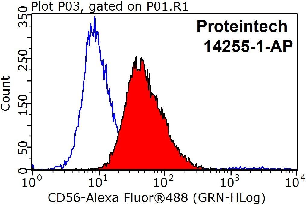 NCAM1/CD56 Antibody in Flow Cytometry (Flow)