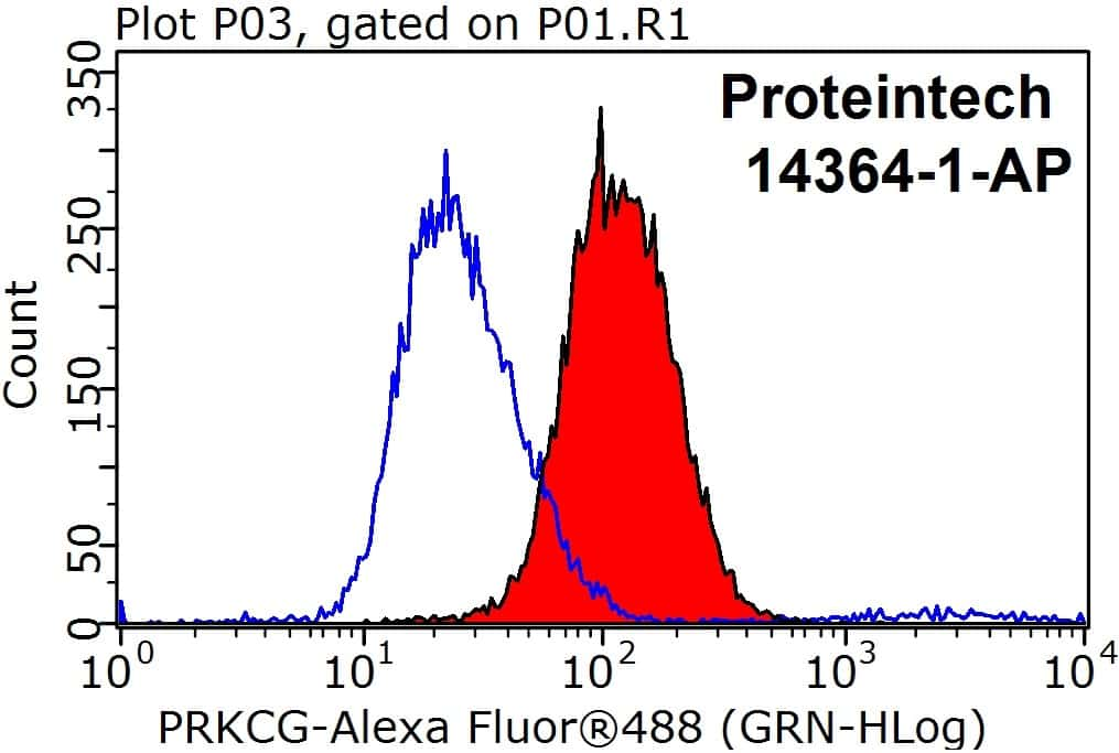 PKC gamma Antibody in Flow Cytometry (Flow)