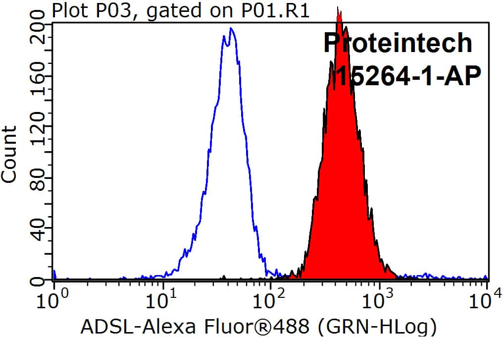 Adenylosuccinate lyase Antibody in Flow Cytometry (Flow)