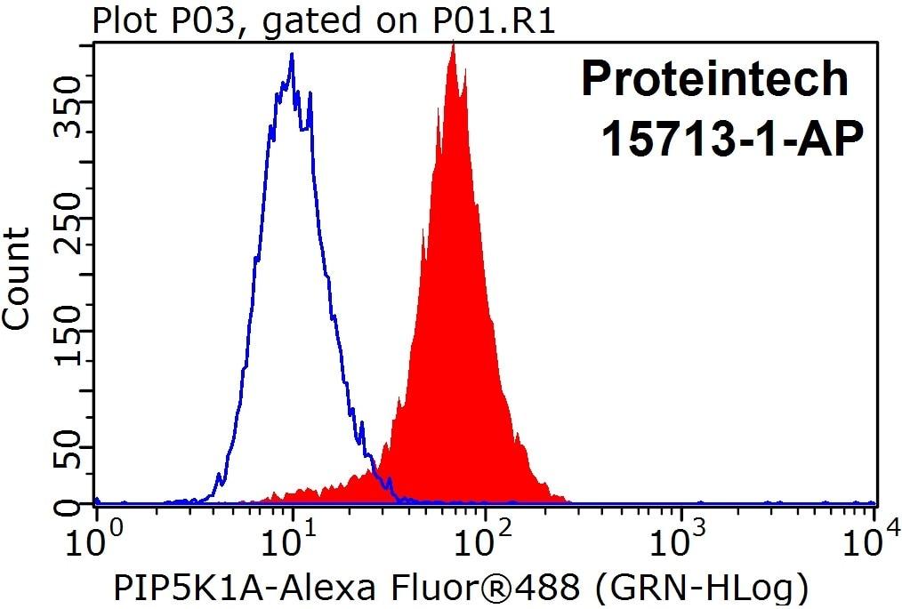 PIP5K1A Antibody in Flow Cytometry (Flow)