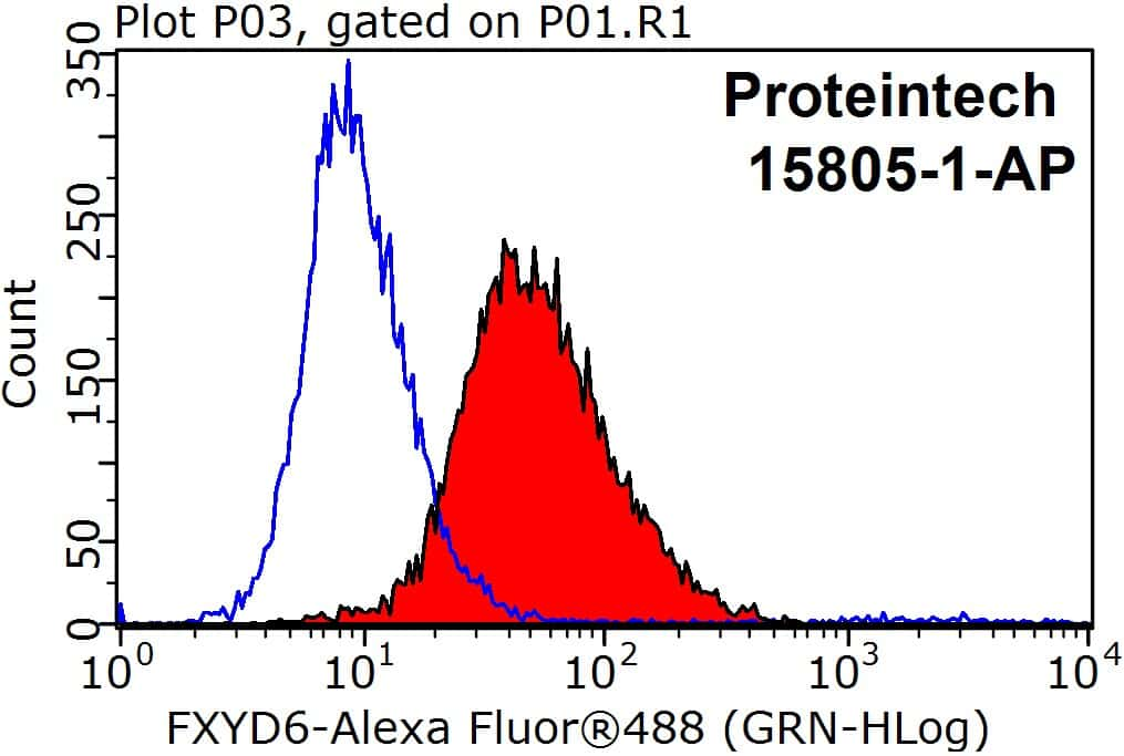 FXYD6 Antibody in Flow Cytometry (Flow)