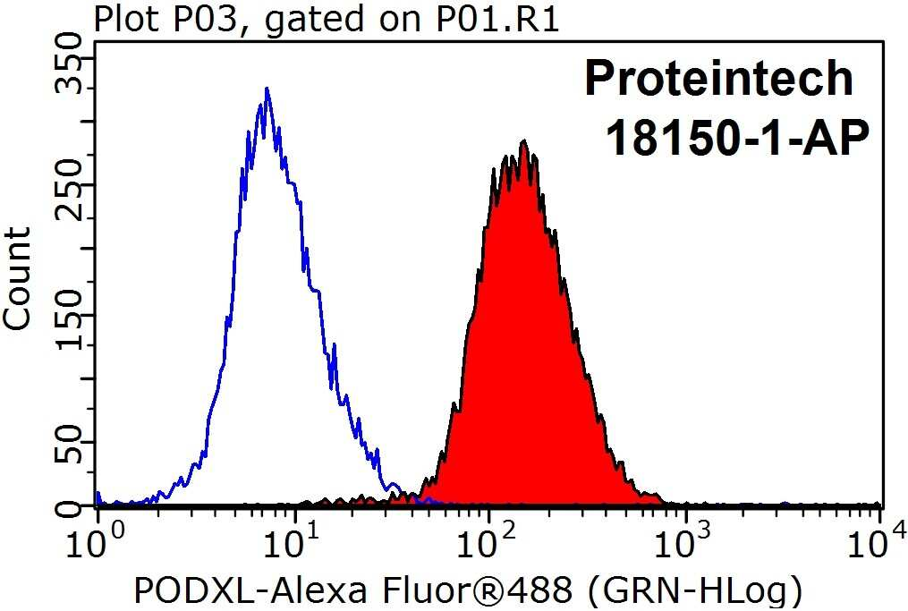 Podocalyxin Antibody in Flow Cytometry (Flow)