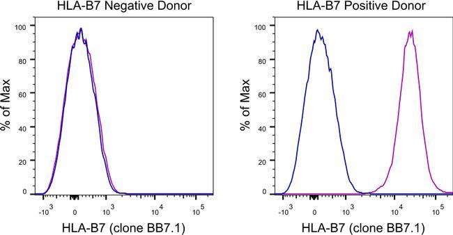 HLA-B7 Antibody in Relative expression