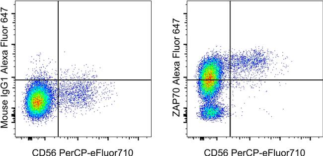 ZAP-70 Antibody in Flow Cytometry (Flow)