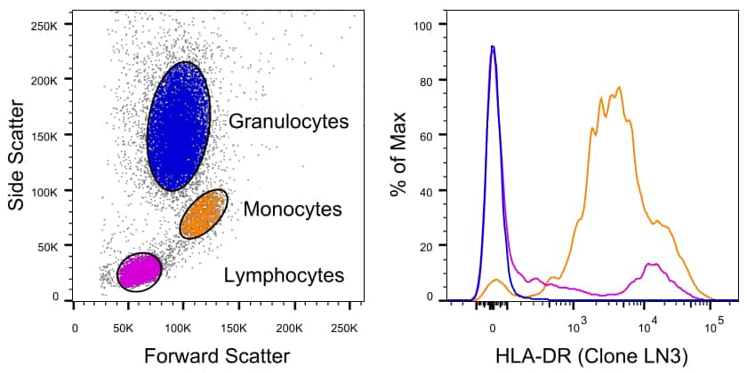 HLA-DR Antibody in Relative expression