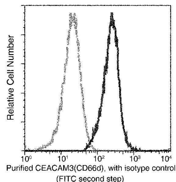 CEACAM3 Antibody in Flow Cytometry (Flow)