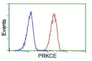 PRKCE Antibody in Flow Cytometry (Flow)