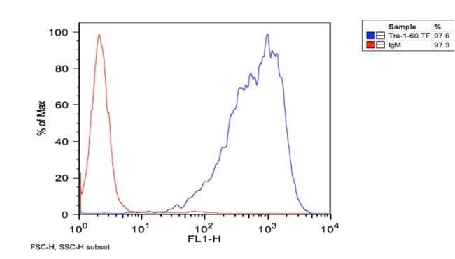 TRA-1-60 Antibody in Flow Cytometry (Flow)